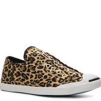 Converse Women's Jack Purcell Cheetah Print Laceless Sneaker