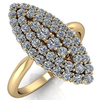 Anastasia  MicroPave Diamonds Marquise Shaped Statement Ring