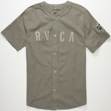 Rvca Strikeout Mens Baseball Jersey Grey  In Sizes