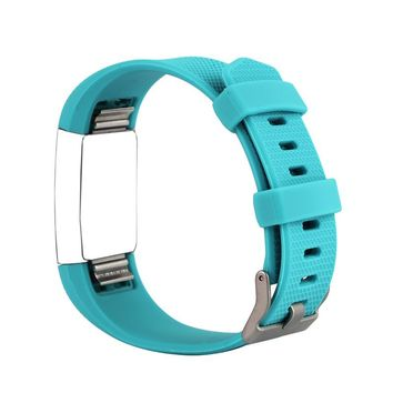 Bemorcabo Candy Color Sports Soft Silicone Replacement Watch Band Watch Wrist Strap Bracelet Band for Fitbit Charge 2