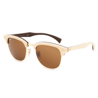 Ray-Ban Maple Wood Clubmaster Sunglasses Wood One Size For Women 26416346101