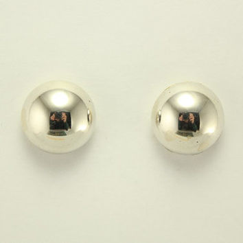 Silver High Dome Magnetic Clip Non Pierced Earrings