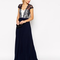 ASOS TALL Scalloped Lace Maxi Dress at asos.com