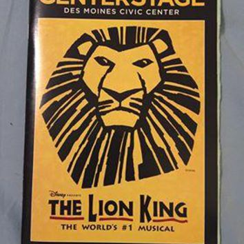 The Lion King Playbill Des Moines Civic Center
