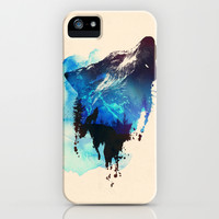 Alone as a wolf iPhone & iPod Case by Robert Farkas
