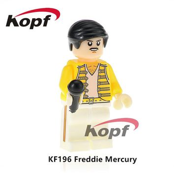 20Pcs KF196 Building Blocks Freddie Mercury Lead Singer Queen Donald Trump Hillary Clinton Super Heroes Bricks Toys for children