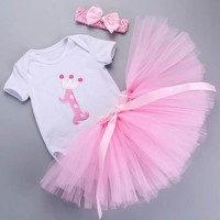 3 Pcs Adorable Baby Girls Tutu Sets - 7 Designs
