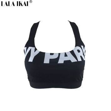 Short Summer Tops 2016 Women Fitness Halter IVY Park Bra Crop Top Woman Sexy Beyonce Black White Hip Hop Women Tank Top SWL0218