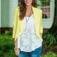 Bright & Shiny Day Blazer, Yellow