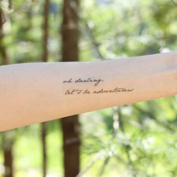 Let's Be Adventurers Temporary Tattoo