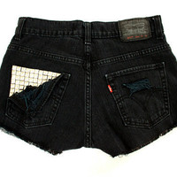 Studded Pocket Levi's Handmade Distressed by GirlMeetsClothes on Etsy