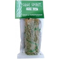 Sage Spirit Desert Sage and Sweetgrass Smudge Stick  Cleansing  Hippie  Wicca