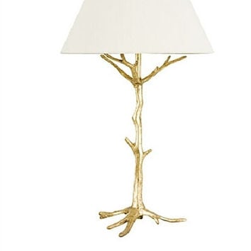 Sprig's Promise I Table Lamp in Gold