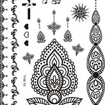 Mandala Tattoos - Tattoo Mehendi / Henna inspired - Temporary Tattoos