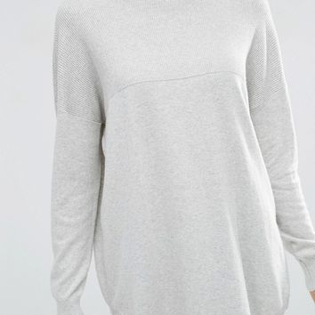 ASOS Tunic With High Neck In Cashmere Mix at asos.com
