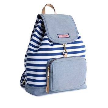 Striped Canvas Oxford Day Pack
