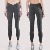"""""""lululemon""""Ladies, outdoor running, breathable yoga, body building, tight pants."""