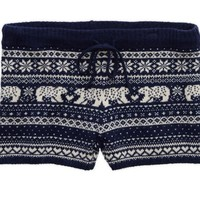 Aerie Women's Knit Boxer (Royal Navy)