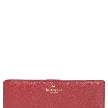 kate spade new york 'cobble hill - large stacy' leather wallet | Nordstrom