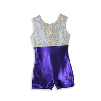 Obersee Kids Gymnastics Biketard in Purple