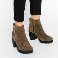 River Island Chunky Side Zip Boot