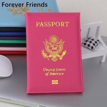The  United States Passport Holder Cover PU Leather ID Card Fashion Travel s passport Covers passport for  America