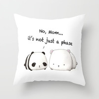 Emo Panda Throw Pillow by Sherry Yuan | Society6