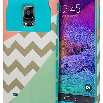 Note 4 Case,    Durable Hybrid Protective Case -  Sky Blue