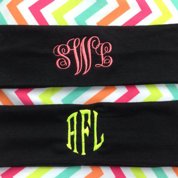 Monogram headbands