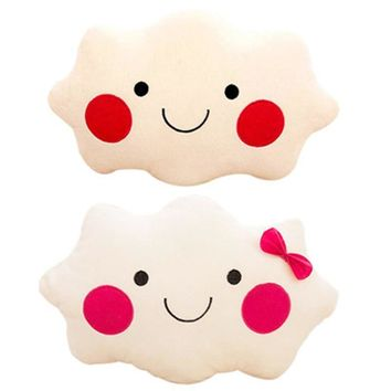 Soft Plush Stuffed Cute Smiley Face Cloud Pillow Toys