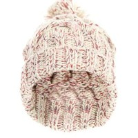 New Look Mobile | Cream Colour Fleck Bobble Hat