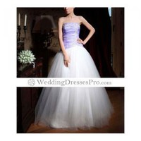 New style Ball Gown Strapless Floor-length Satin/ Tulle Prom Dress (TQD022) [TQD022] - $147.99 : wedding fashion, wedding dress, bridal dresses, wedding shoes
