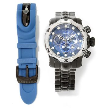 Invicta 13889 Mens Venom Blue Dial Chronograph Interchangeable Bracelet Dive Watch