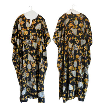 Black Kaftan Dress Plus Size Dress Plus Size Kaftan Black Caftan Dress Baroque Dress Mu Mu Plus Size Clothing Plus Size Clothes XL Dress