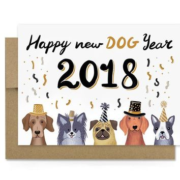Year of Dog 2018 - Holiday Card