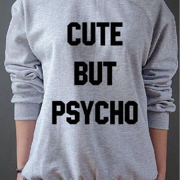 ICIKJ1A New womens letter sweater CUTE BUT PSYCHO