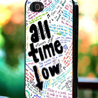 Silicone - Plastic - The Wanted All Time Low Lyrics - iPhone 4/4s, 5, 5s, 5c, Samsung S3, S4