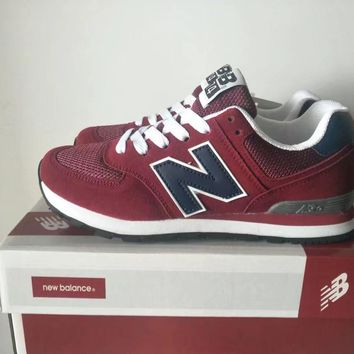 """New Balance 574"" Sport Casual Unisex N Words Retro Sneakers Couple Running Shoes"