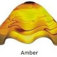 Amber Hand Blown Glass Lamp Shade