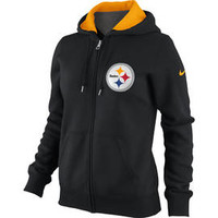 Pittsburgh Steelers Women's Nike Tailgater Full Zip Hoodie - Official Online Store