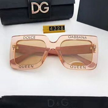 Dolce & Gabbana New fashion letter print couple sunscreen glasses eyeglasses