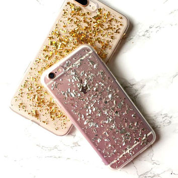 iPhone X 8 7 6s 6 Plus Case Holographic Silver Reflective Flakes Glitter  Sparkle Bling iPhone f55074631