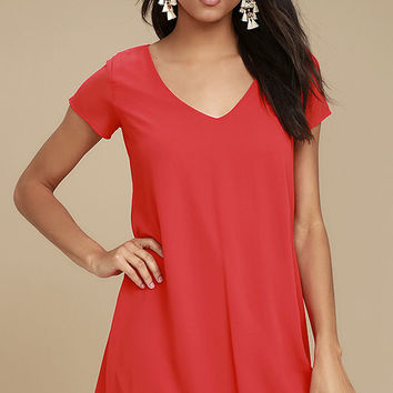 Freestyle Red Shift Dress