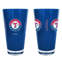 MLB Texas Rangers 16 Oz. Double Walled Heavy Plastic Cups