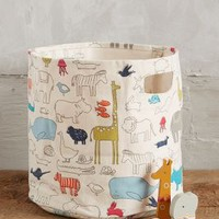 Animal Parade Basket by Anthropologie Multi One Size Gifts