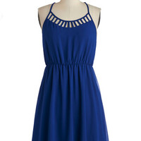 ModCloth Mid-length Spaghetti Straps A-line On Your Lunch Break Dress