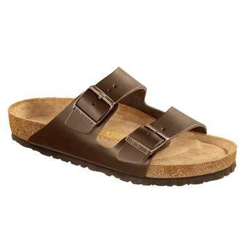 Birkenstock Classic Arizona Regular Fit Smooth Leather Soft Footbed Dark Brown - Beaut