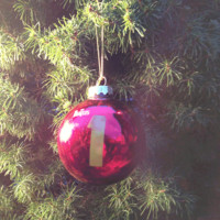The Beatles – No. 1 Christmas Glass Ornament In Red | Thirteen Vintage