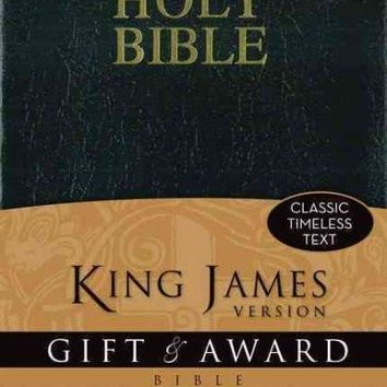 Holy Bible: King James Version Black Leather-Look Gift & Award Bible