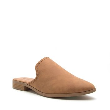 Camel Distress Slip On Mule Ballerina